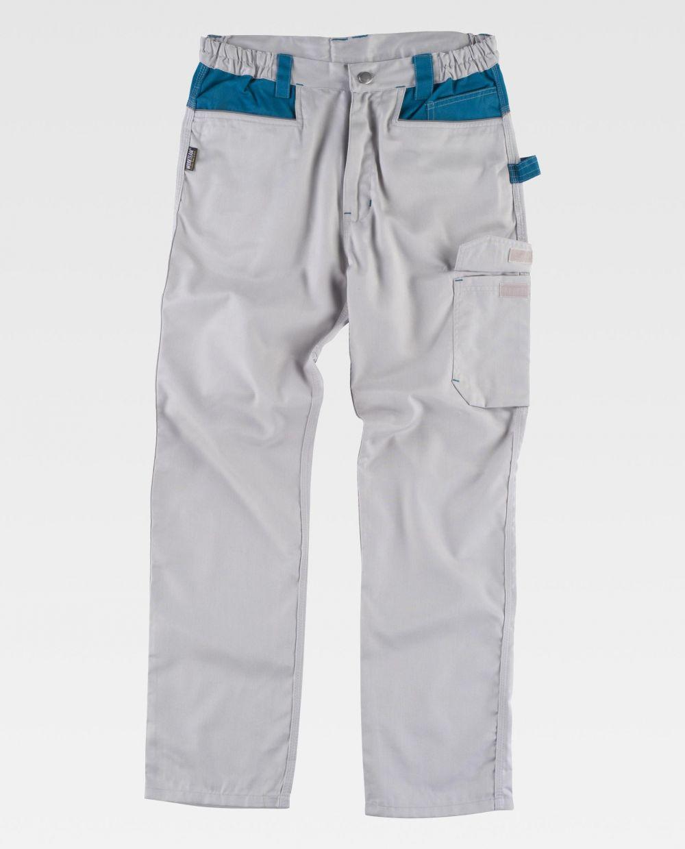 Pantalones de trabajo workteam wf1050 de poliéster con impresión vista 2