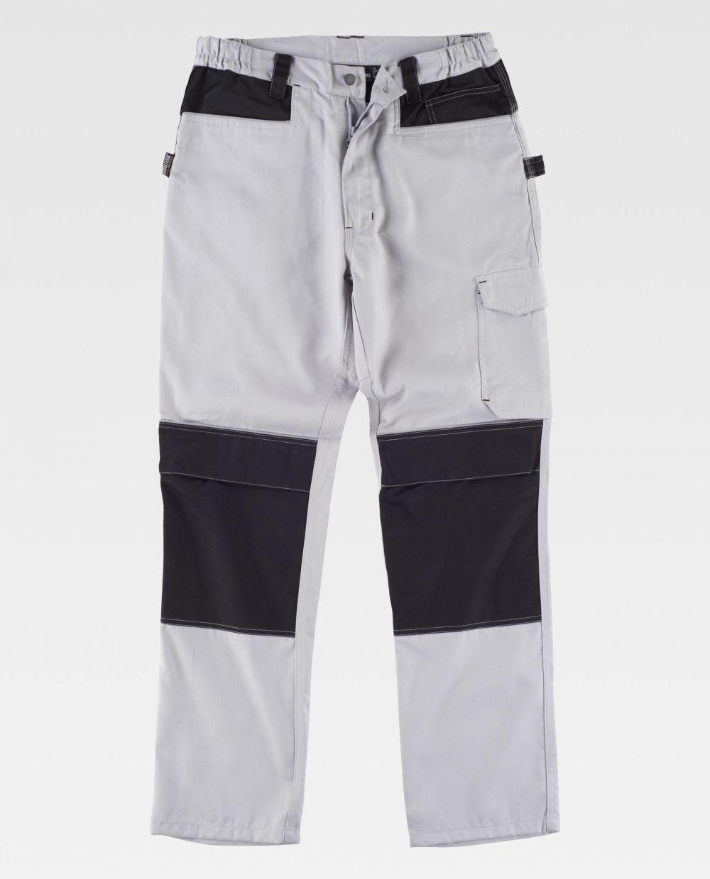 Pantalones de trabajo workteam wf1052 de poliéster vista 2