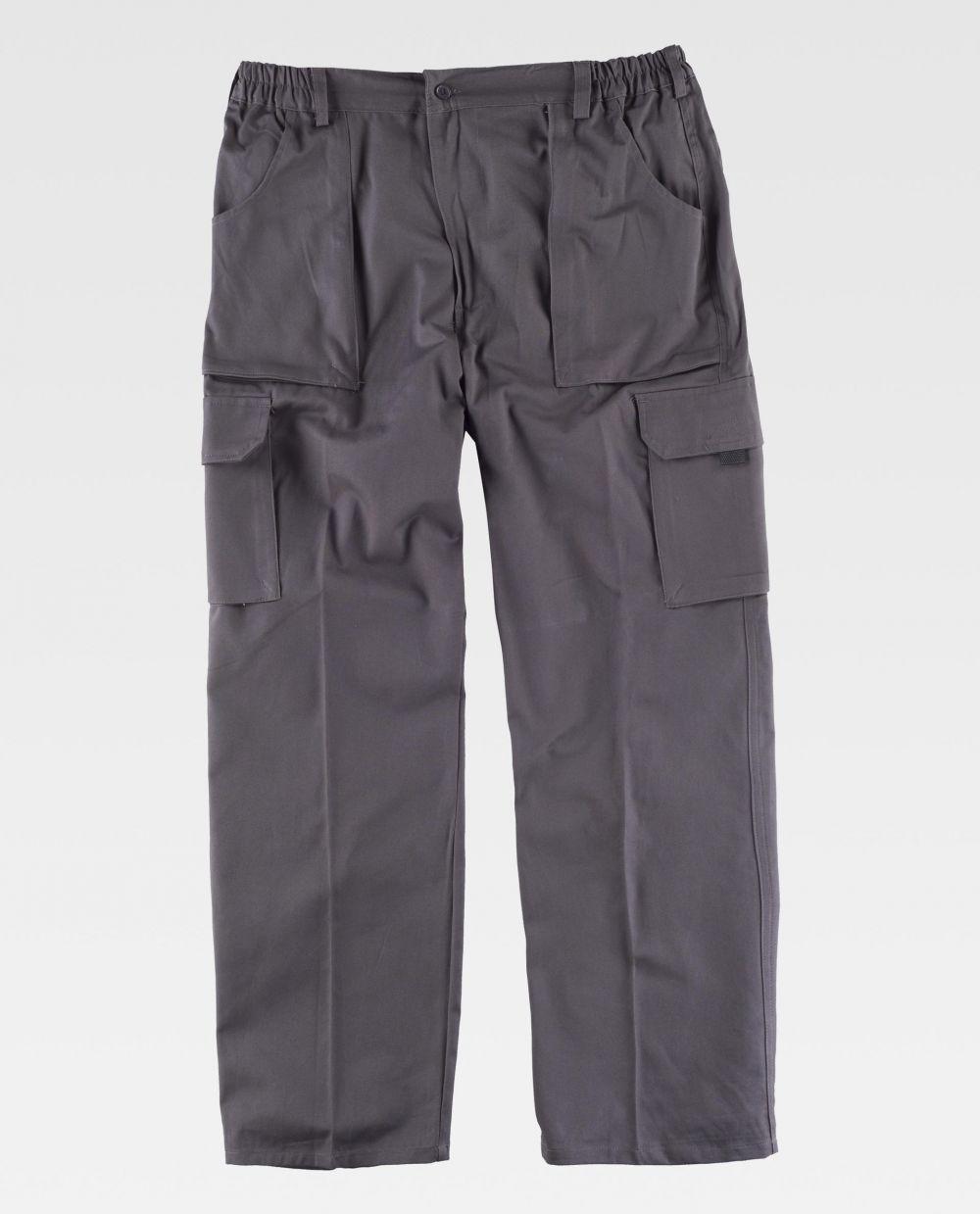 Pantalones de trabajo workteam wf1400 de 100% algodón con impresión vista 2