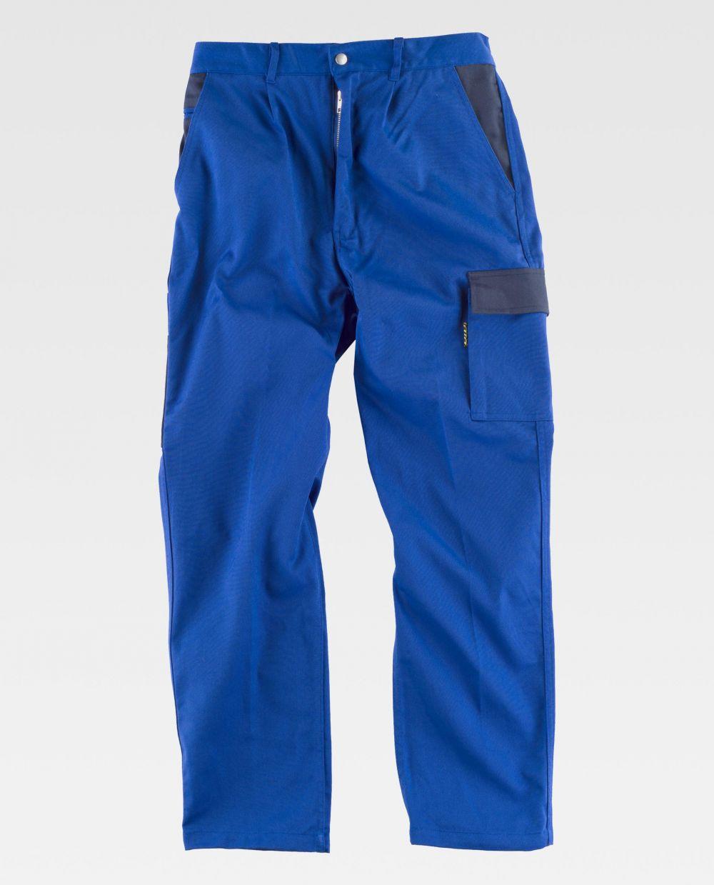 Pantalones de trabajo workteam wf1500 de poliéster vista 2
