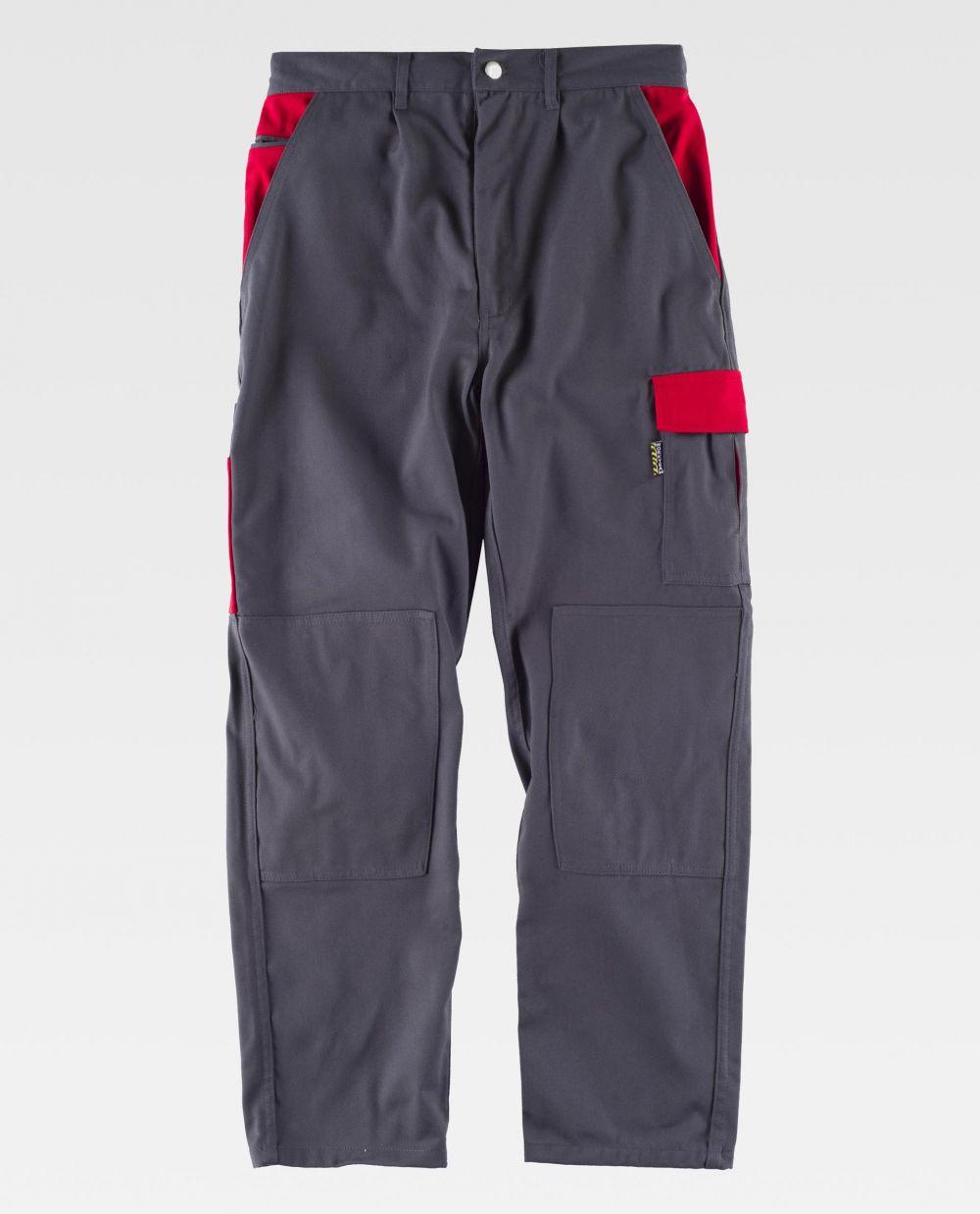 Pantalones de trabajo workteam wf1550 de poliéster con impresión vista 2