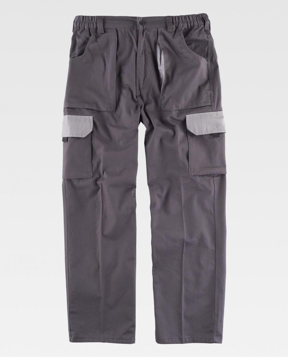 Pantalones de trabajo workteam wf1560 de 100% algodón vista 2