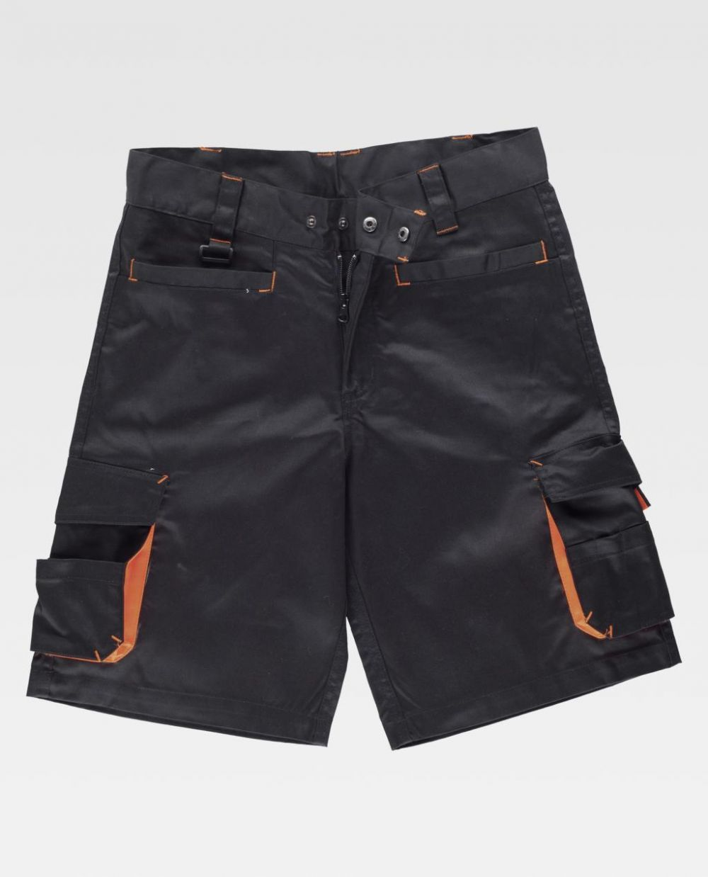Pantalones reflectantes workteam bermuda combinada con detalles fluorescente de poliéster vista 1