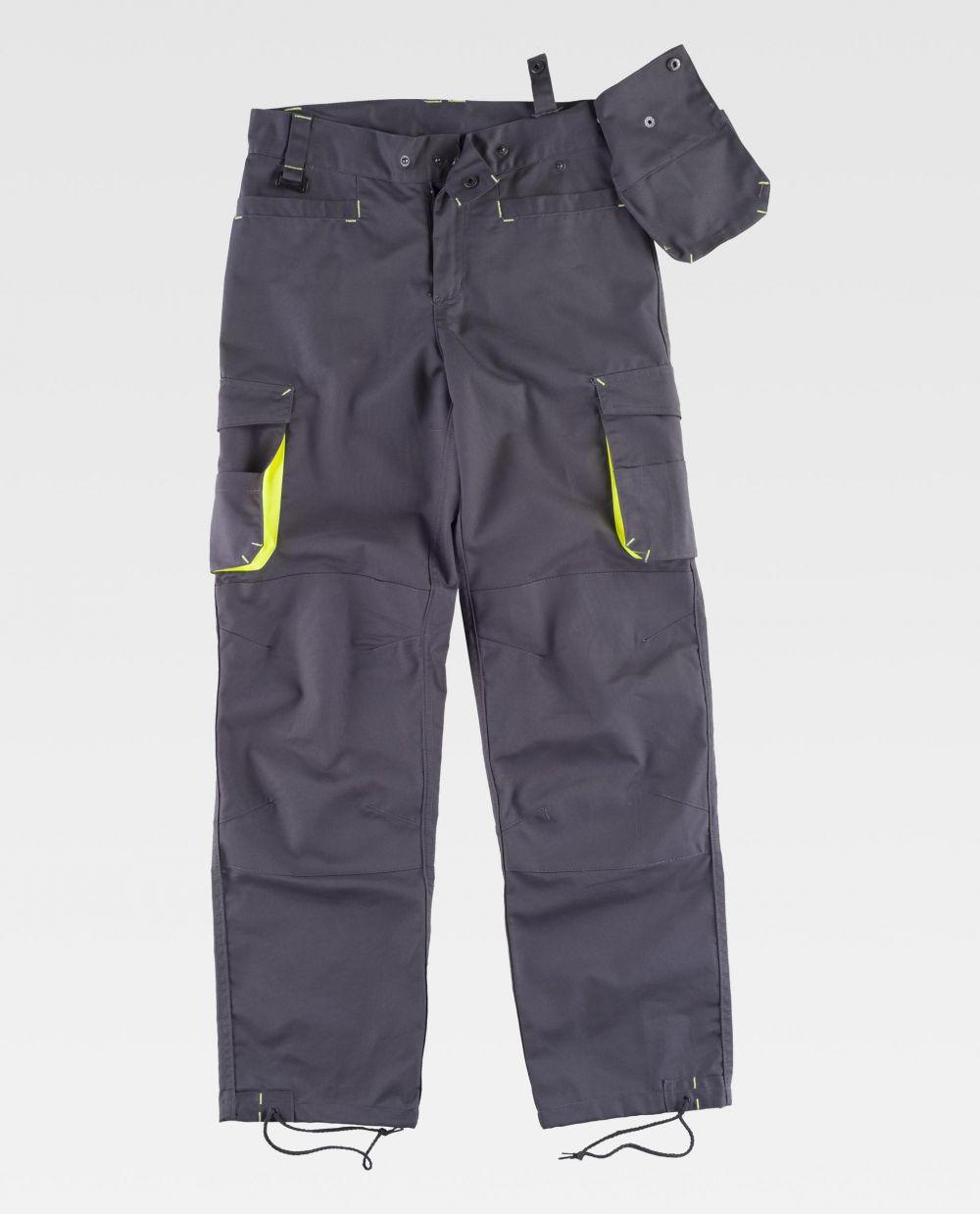 Pantalones de trabajo workteam wf1619 de poliéster con impresión vista 2