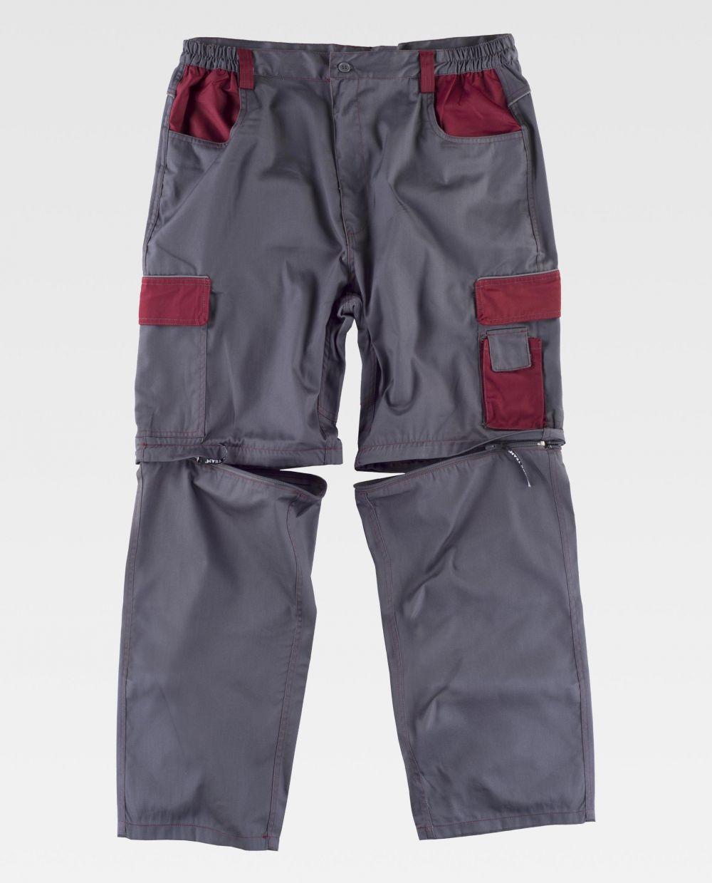 Pantalones de trabajo workteam wf1850 de poliéster vista 2