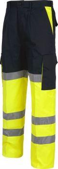 Pantalones reflectantes workteam combinado alta visibilidad vista 1