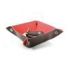 Decoración vaciabolsillos suede de plástico rojo para personalizar vista 1