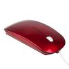 Ratones de ordenador ergo plus de plástico rojo con impresión imagen 1