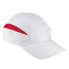 Gorras serigrafiadas technical de poliéster blanco rojo vista 1