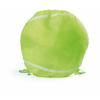 Mochila cuerdas personalizada baloncesto de poliéster verde claro con impresión vista 1