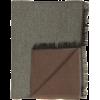 Bufandas mild de rayón marron con logo vista 1