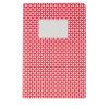 Libretas pequeñas geo a5 de papel rojo con impresión vista 1