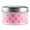 Ambiente y velas vela nirvana de metal rosa con impresión imagen 1