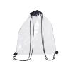 Mochila cuerdas personalizada clear de poliéster negro con impresión imagen 1