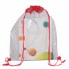 Mochila cuerdas personalizada clear de poliéster rojo para personalizar vista 1