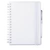 Cuadernos con anillas concept de papel blanco vista 1
