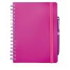 Cuadernos con anillas concept de papel fucsia vista 1