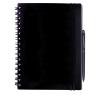 Cuadernos con anillas concept de papel negro vista 1
