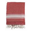 Toallas de playa maui de 100% algodón rojo con logo vista 1