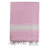 Toallas de playa maui de 100% algodón rosa con logo vista 1