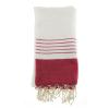 Toallas de playa comporta de algodon rojo con logo vista 1