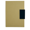 Libretas sin anillas clasp de cartón negro imagen 1