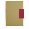 Libretas sin anillas clasp de cartón rojo vista 1