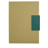 Libretas sin anillas clasp de cartón verde vista 1