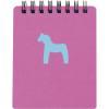 Cuadernos con anillas horse de cartón fucsia con impresión vista 1