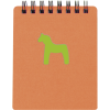 Cuadernos con anillas horse de cartón naranja con impresión vista 1