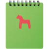 Cuadernos con anillas horse de cartón verde con impresión vista 1