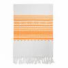 Toallas de playa eivissa de algodon naranja con impresión vista 1