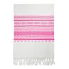Toallas de playa eivissa de algodon rosa con impresión vista 1