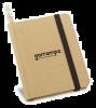 Libretas con banda elastica bronte de cartón ecológico con publicidad imagen 2