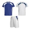 Equipaciones deportivas roly conjunto deportivo salas de niño de poliéster azul royal blanco con publicidad vista 1