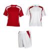 Equipaciones deportivas roly conjunto deportivo salas de niño de poliéster rojo blanco con publicidad vista 1