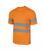 Camisetas reflectante técnica alta visibilidad naranja fluor vista 1