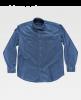 Camisas de trabajo workteam basic industrial sky blue para personalizar vista 1