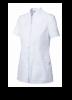 Casacas sanitarias con automáticos manga corta de 100% algodón blanco vista 1