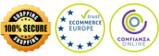 Garantia 100%. SSL encryption. Ecommerce Europe. Confianza Online.